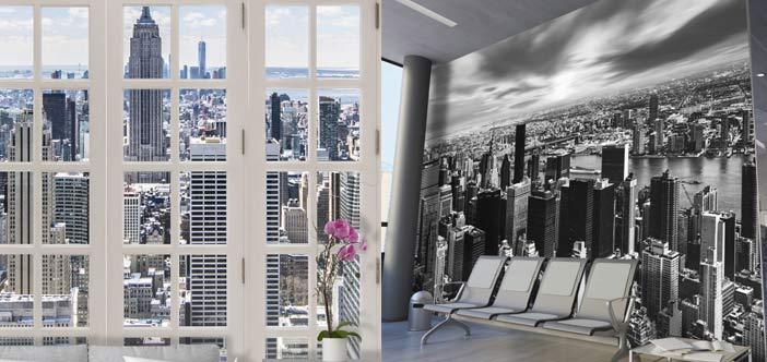 ejemplos de fotomurales para oficinas