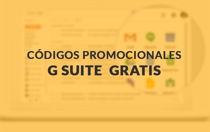 Foto codigos promocionales G suite gratis