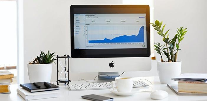 Pantalla de Mac con Analytics abierto