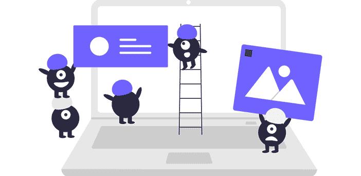 ilustración crear página web