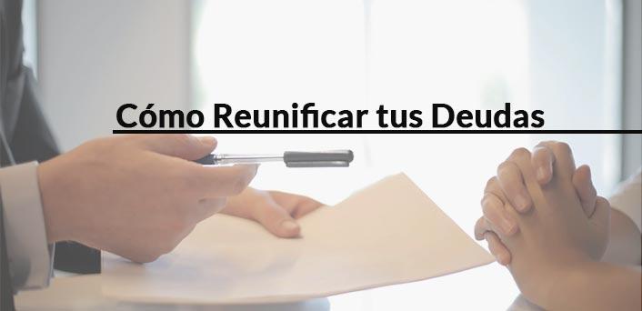 firmando préstamo reunificar deudas