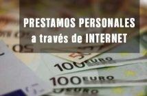 foto con rótulo solicitar prestamos personales através de internet
