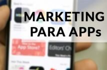 Foto con rotulo Marketing para Apps