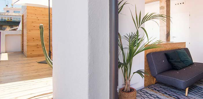 interior casa autosuficiente en Granada
