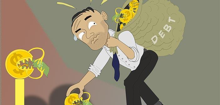 ilustración emprendedor con pocos recursos económicos