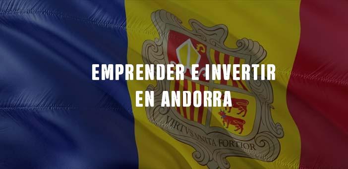 bandera de Andorra con texto emprender en Andorra