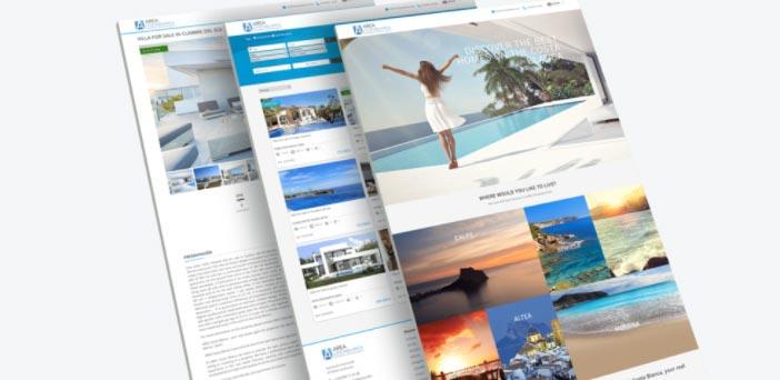 web de inmobiliaria hecha con Sooprema