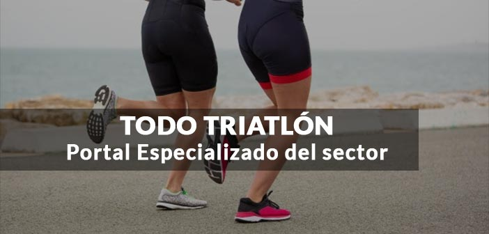 chicas corriendo triatlon con titulo post