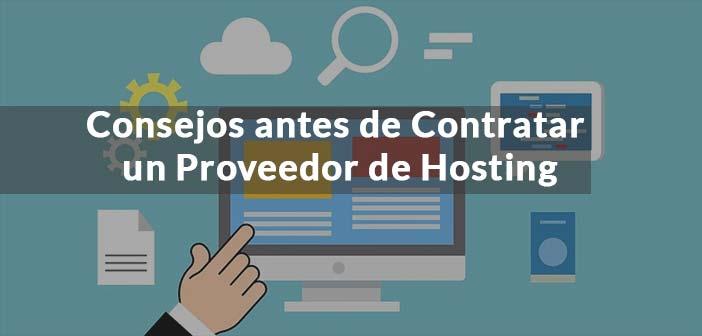 portada con texto consejos para contratar un proveedor de hosting