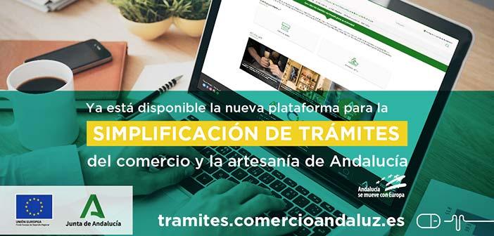 Portada plataforma simplificación trámites del comercio y artesanos de de Andalucía