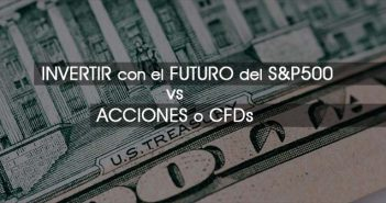 Primer plano dolar y rótulo S&P500
