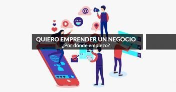infografía y rótulo sobre como empezar a emprender un negocio