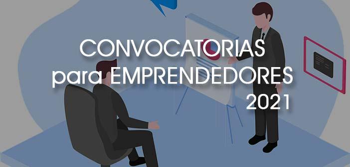 ingografía pitch emprendedor con rotulo premios y convocatorias emprendedores 2021