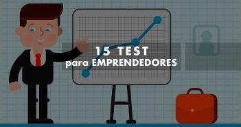 Ilustración con rótulo Test para emprendedores
